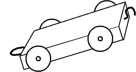Toy tain truck with hook and ring