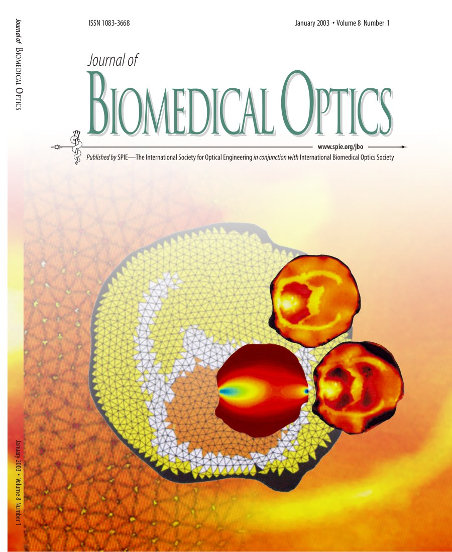 Cover of Journal of Biomedical Optics, Volume 8, 2003
