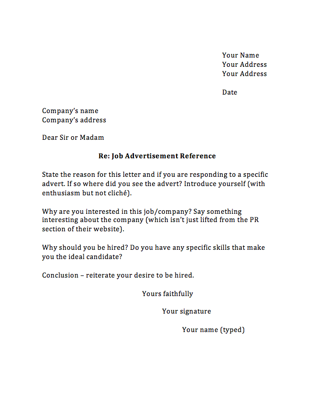 writing a covering letter uk